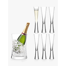 Buy LSA International Moya Set of 6 Flutes and Champagne Bucket Online at johnlewis.com