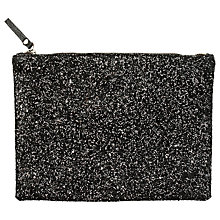 Buy hush Glitter Clutch Bag, Black Online at johnlewis.com