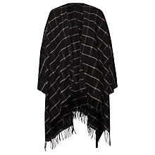 Buy French Connection Windowpane Cape, Black/White Online at johnlewis.com