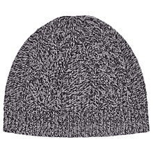 Buy Reiss Claude Mottled Cable Beanie Hat, One Size Online at johnlewis.com