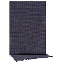 Buy Reiss Benson Lambswool Cashmere Houndstooth Scarf, Navy Online at johnlewis.com