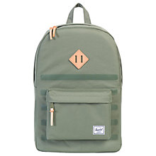 Buy Herschel Supply Co. Heritage Backpack, Deep Lichen Green Online at johnlewis.com