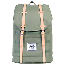 Buy Herschel Supply Co. Retreat Backpack, Deep Lichen Green Online at johnlewis.com