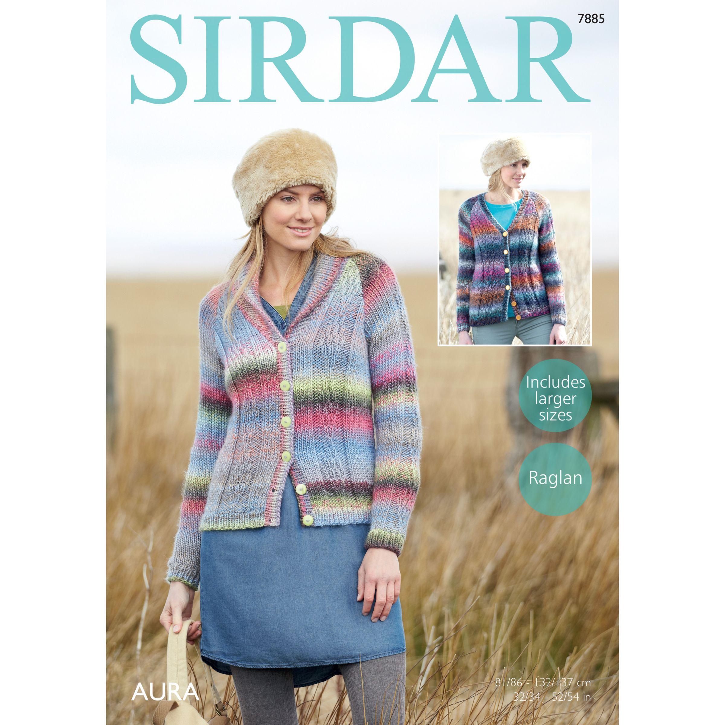 Sirdar Sirdar Aura Chunky Women's Cardigan Knitting Pattern, 7885