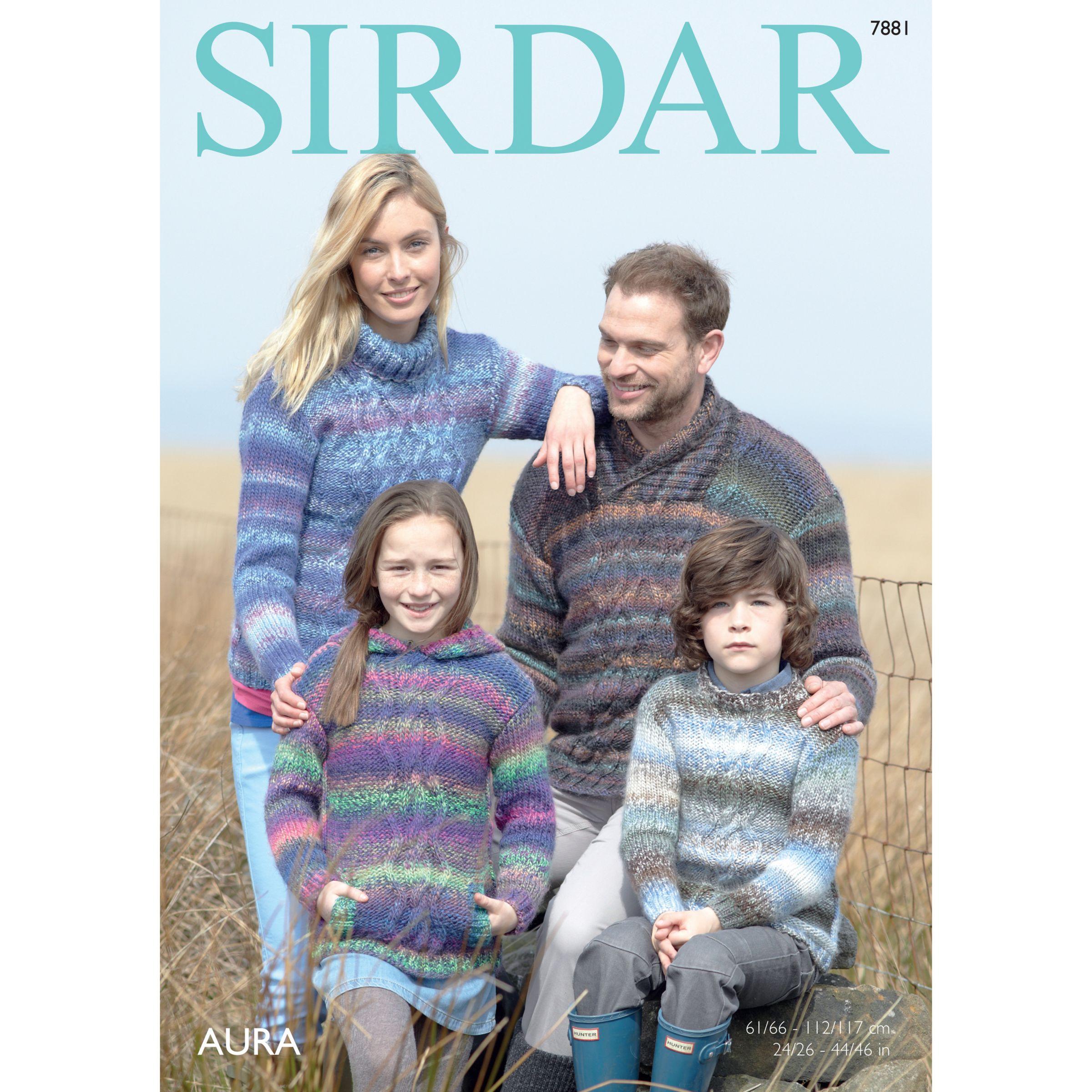 Sirdar Sirdar Aura Chunky Jumpers Knitting Pattern, 7881