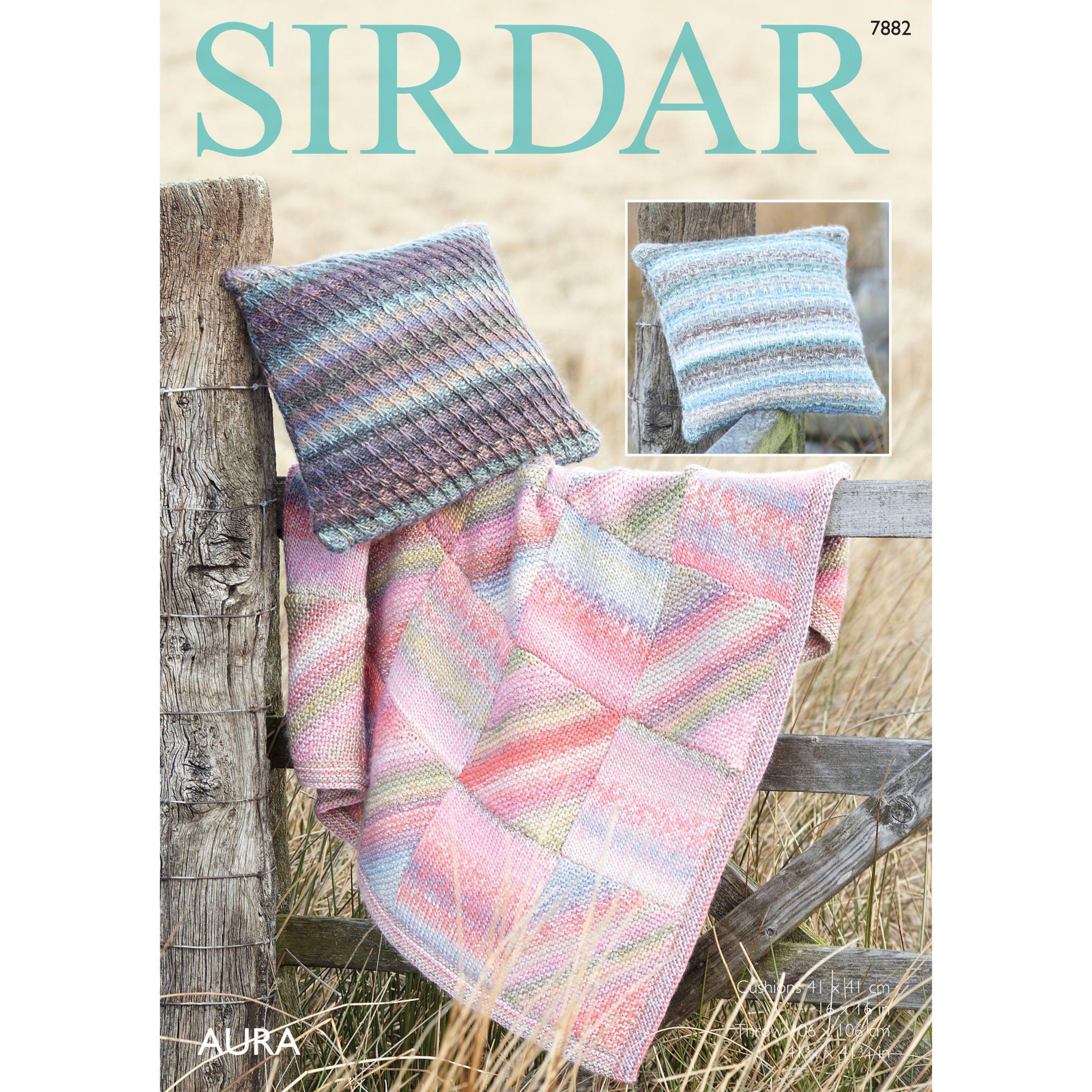 Sirdar Sirdar Aura Chunky Throw and Cushion Cover Knitting Pattern, 7882