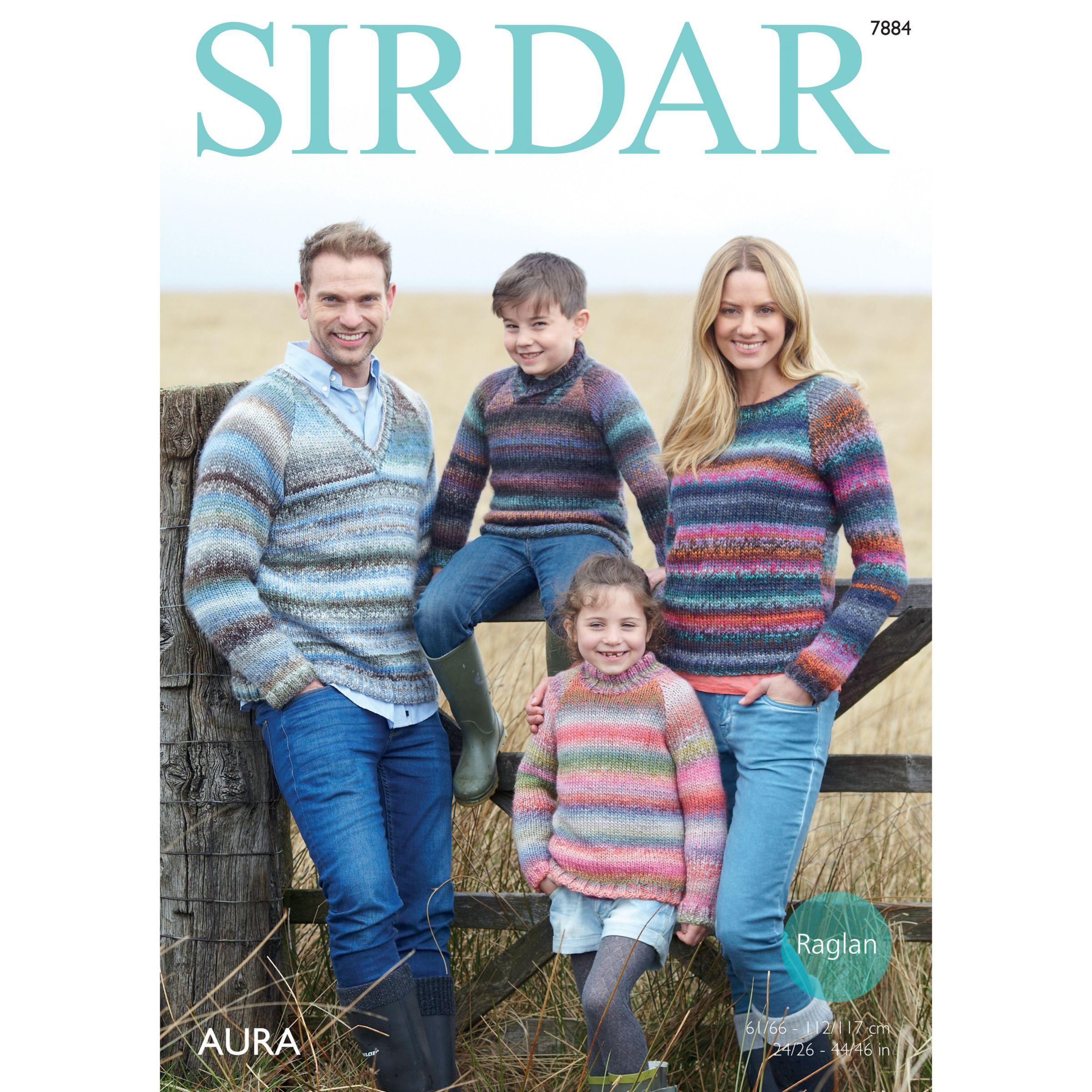Sirdar Sirdar Aura Chunky Jumpers Knitting Pattern, 7884