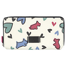 Buy Radley Love Me Love My Dog Large Zip-Around Matinee Purse, Ivory Online at johnlewis.com