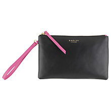 Buy Radley Love Stuck Leather Pouch, Black Online at johnlewis.com