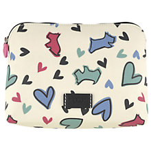 Buy Radley Love Me Love My Dog Medium Cosmetic Case, Ivory Online at johnlewis.com
