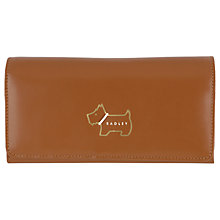 Buy Radley Heritage Dog Medium Flapover Matinée Leather Purse Online at johnlewis.com