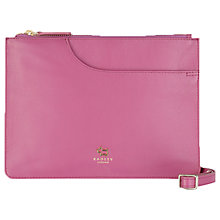 Buy Radley Pockets Leather Medium Across Body Bag, Pink Online at johnlewis.com
