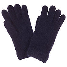 Buy Mint Velvet Rib Knitted Gloves, Blue Online at johnlewis.com