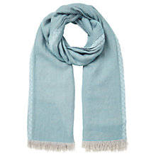 Buy East Reversible Wool Frayed Scarf, Dawn Online at johnlewis.com