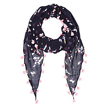 Buy Jigsaw Girls' Heart Print Scarf, Multi Online at johnlewis.com