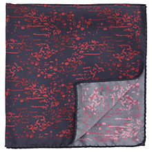 Buy HUGO by Hugo Boss Pattern Silk Pocket Square, Red Online at johnlewis.com