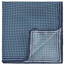 Buy HUGO by Hugo Boss Tile Print Silk Pocket Square, Teal Online at johnlewis.com