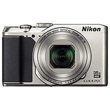 "Buy Nikon COOLPIX A900 Digital Camera, 20.3MP, 4K Ultra HD, 35x Optical Zoom, Wi-Fi, Bluetooth & 3"" LCD Tiltable Screen, Silver Online at johnlewis.com"