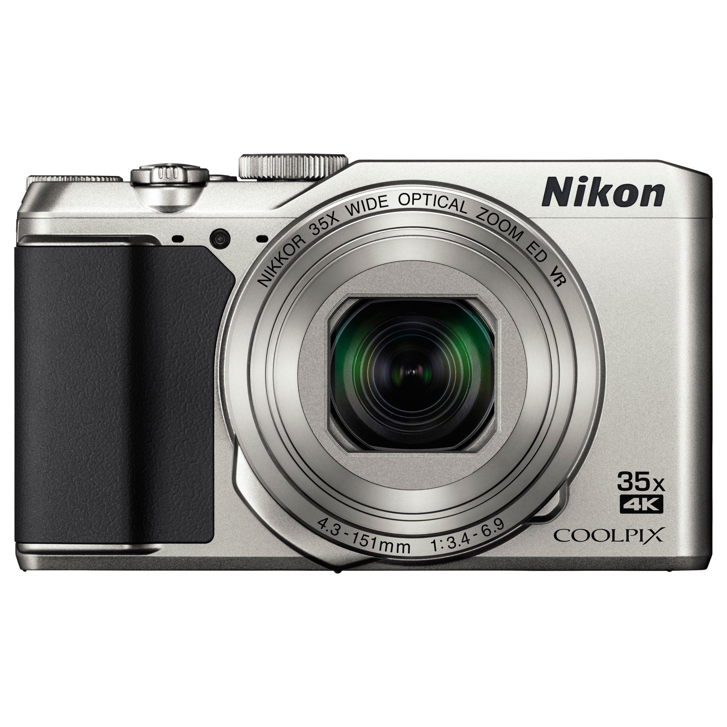 "Nikon Nikon COOLPIX A900 Digital Camera, 20.3MP, 4K Ultra HD, 35x Optical Zoom, Wi-Fi, Bluetooth & 3"" LCD Tiltable Screen, Silver"