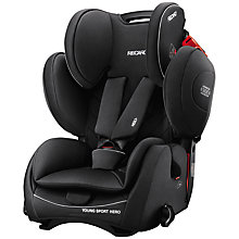 Buy Recaro Young Sport Hero Group 1/2/3 Car Seat, Performance Black Online at johnlewis.com