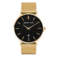 Buy Abbott Lyon Unisex Kensington Date Mesh Bracelet Strap Watch Online at johnlewis.com