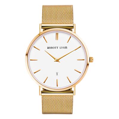 Abbott Lyon Unisex Kensington Date Mesh Bracelet Strap Watch