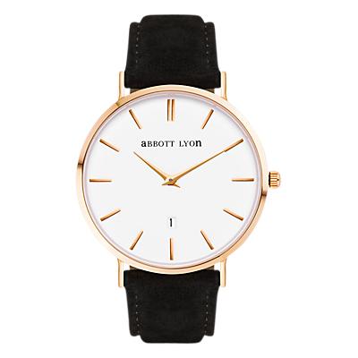 Abbott Lyon Unisex Kensington Suede Strap Watch