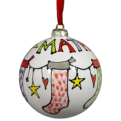 Image of Gallery Thea Personalised Named Stocking Bauble