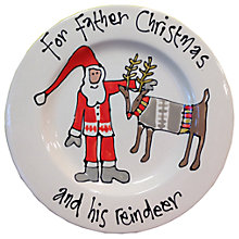 Buy Gallery Thea Personlaised Father Christmas Plate Online at johnlewis.com