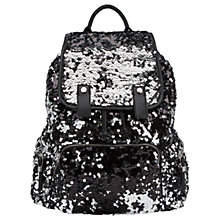 Buy Miss Selfridge Sequin Rucksack, Pewter Online at johnlewis.com