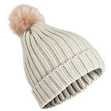 Buy Miss Selfridge Beanie Hat, Light Grey Online at johnlewis.com