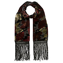 Buy East Alexandra Devore Scarf, Crimson Online at johnlewis.com