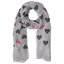 Buy Oasis Floral Heart Print Scarf, Multi Online at johnlewis.com