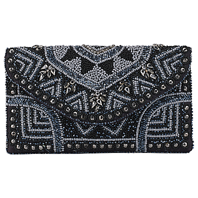 Retro Handbags, Purses, Wallets, Bags East Beaded Clutch Bag Black £24.00 AT vintagedancer.com