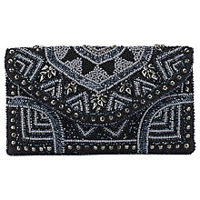 Buy East Beaded Clutch Bag, Black Online at johnlewis.com