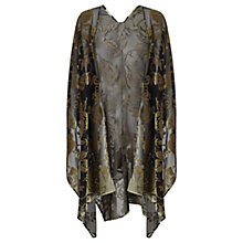 Buy East Rose Devore Wrap, Black Online at johnlewis.com