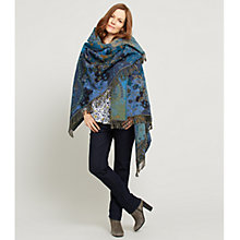 Buy East Woodland Blanket Wrap, Blue Online at johnlewis.com