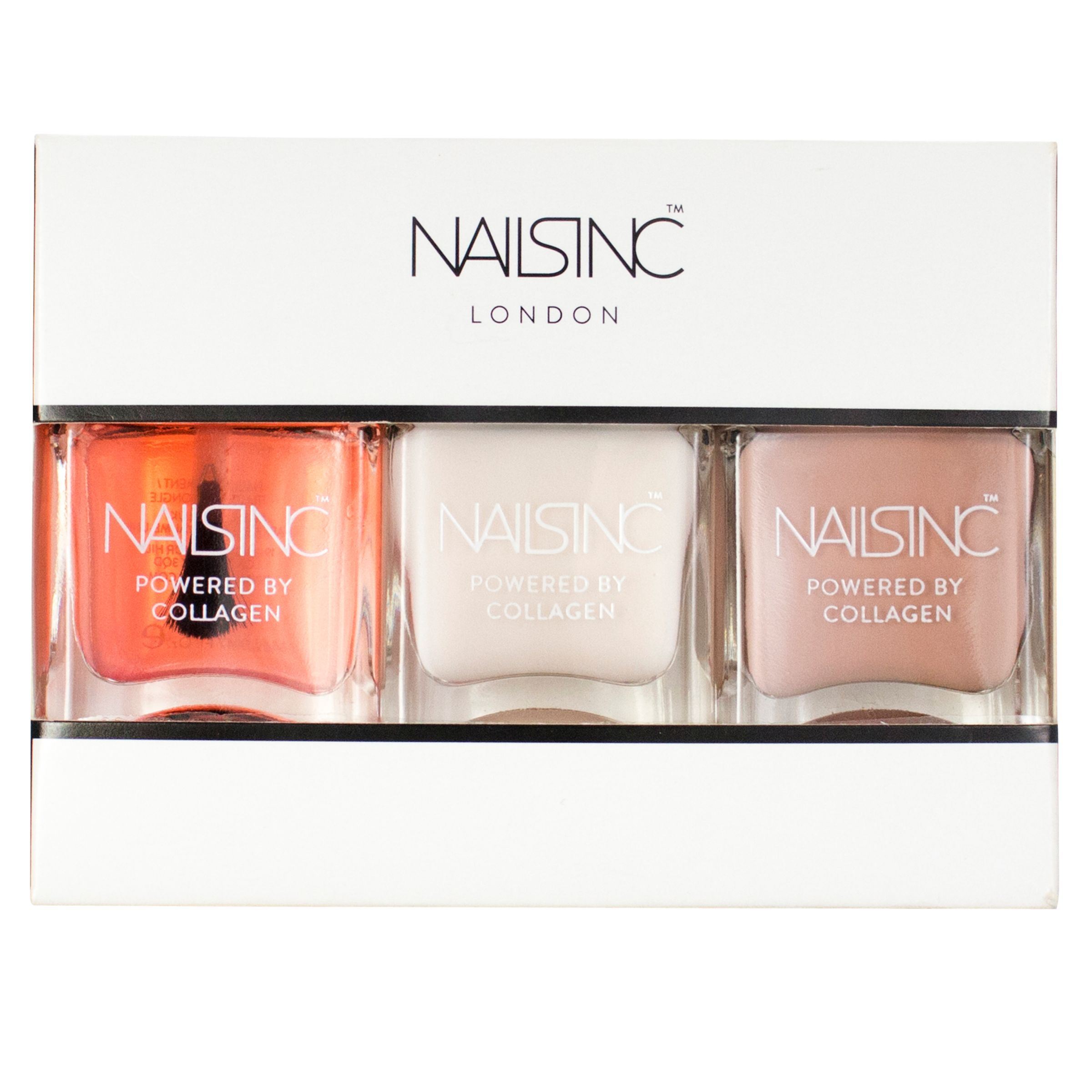 Nails Inc Nails Inc Powered By Collagen Starter Trio Kit