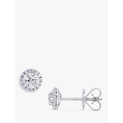 EWA 18ct White Gold Diamond Cluster Stud Earrings