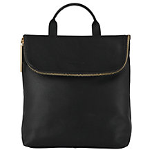 Buy Whistles Mini Verity Leather Backpack, Black Online at johnlewis.com