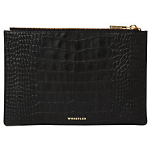 Buy Whistles Matte Croc Leather Small Clutch Bag Online at johnlewis.com
