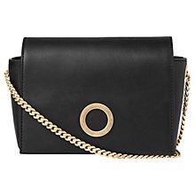 Buy Whistles Willow Chain Handle Shoulder Bag, Black Online at johnlewis.com