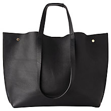 Buy Whistles Hamilton Unlined Stud Leather Tote, Black Online at johnlewis.com
