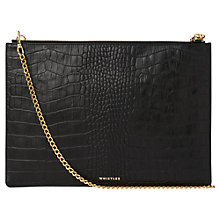 Buy Whistles Matte Croc Leather Rivington Chain Clutch Bag Online at johnlewis.com