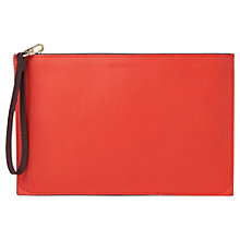 Buy Whistles Java Colourblock Leather Wristlet, Red/Multi Online at johnlewis.com