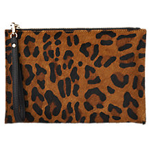 Buy Whistles Leather Wristlet, Leopard Print Online at johnlewis.com