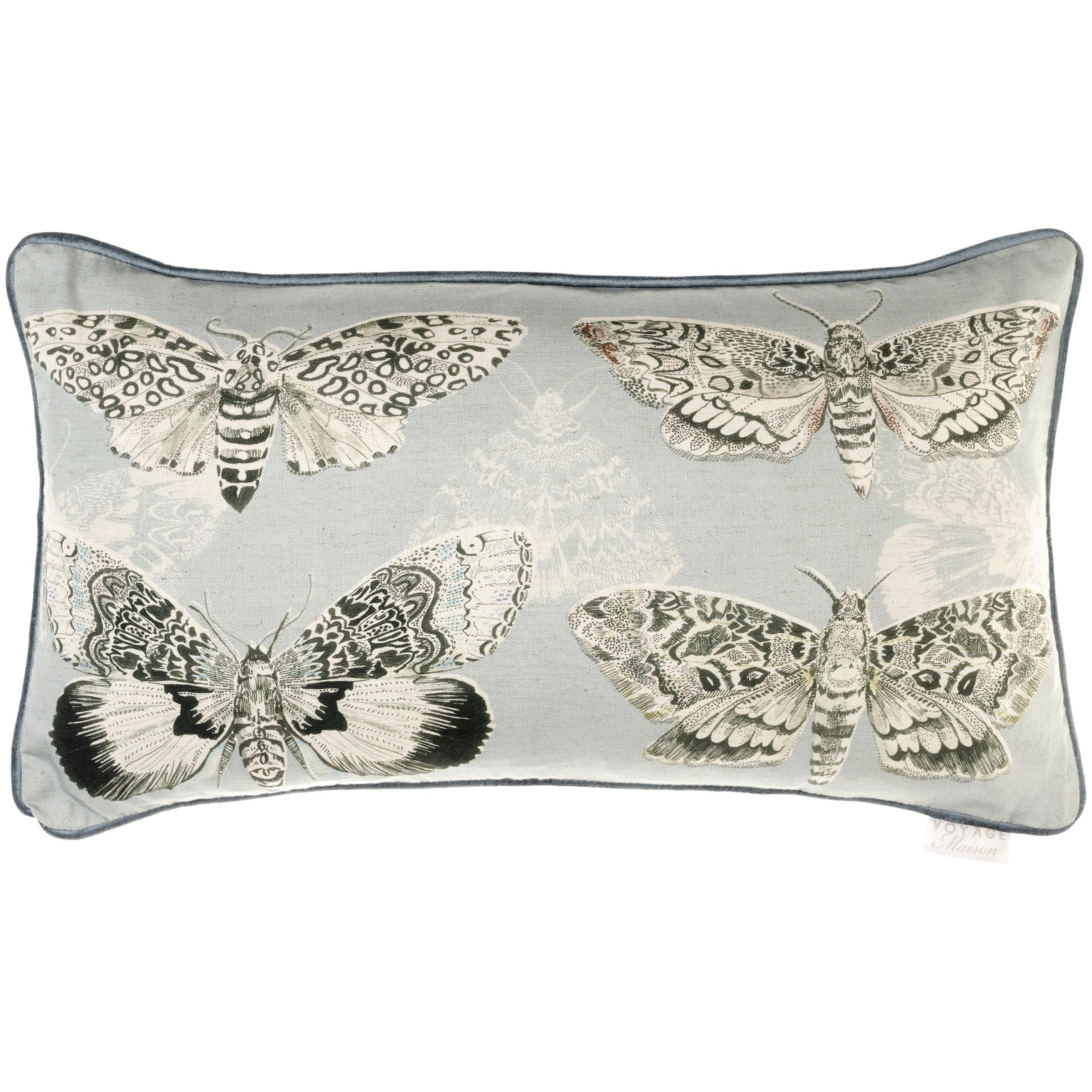 Voyage Voyage Multi Moths Cushion, Sky