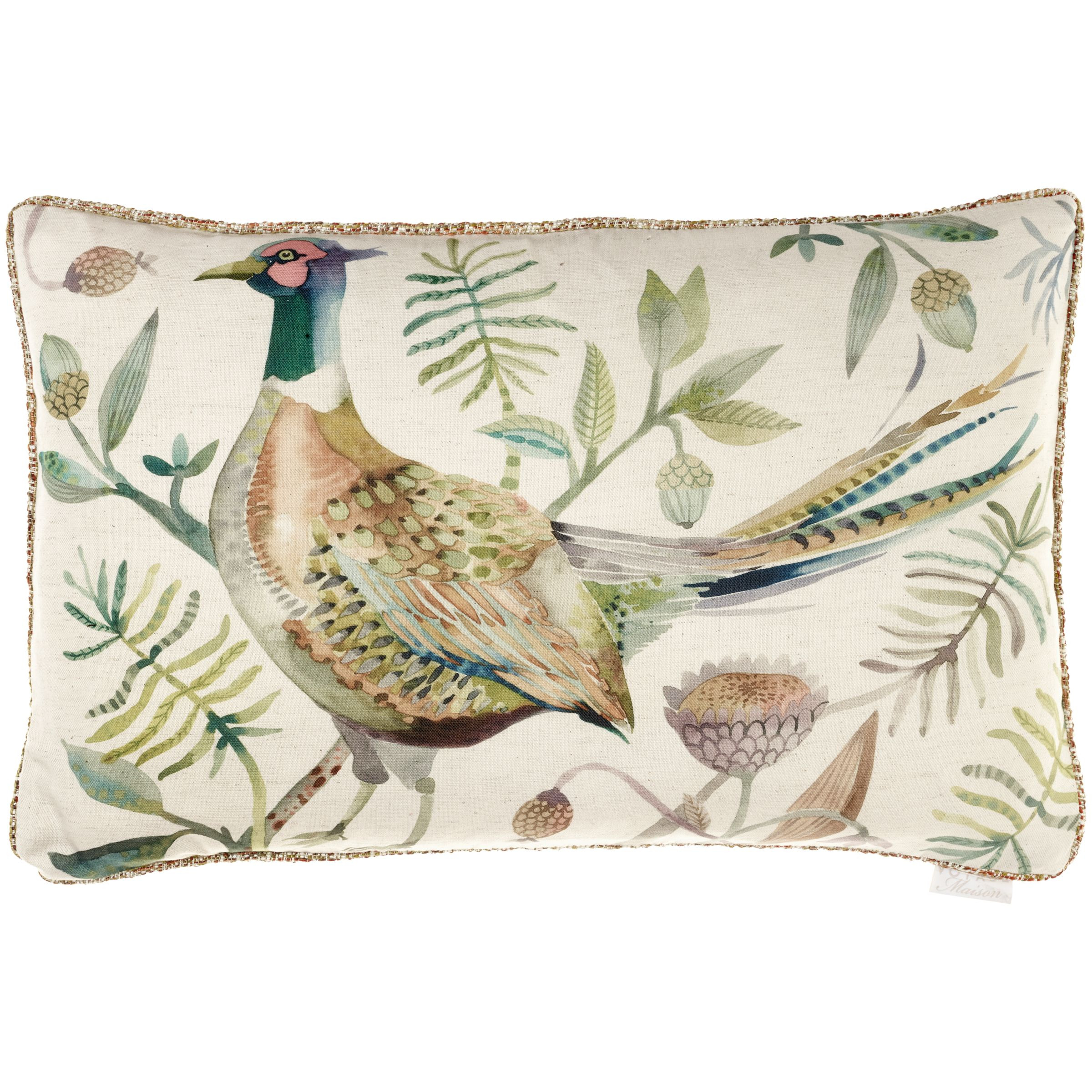 Voyage Voyage Pheasant Cushion, Autumn