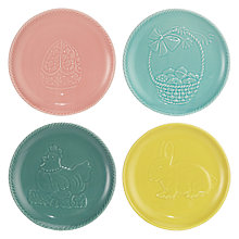 Buy John Lewis Easter 17cm Tea Plates, Set of 4 Online at johnlewis.com