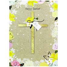 Buy Hammond Gower Cross Floral Border Easter Greeting Card Online at johnlewis.com
